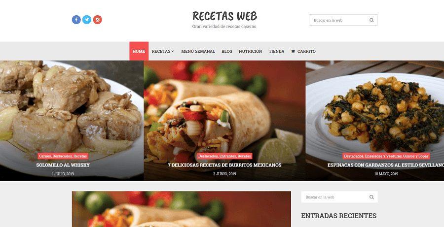 Recetas Web