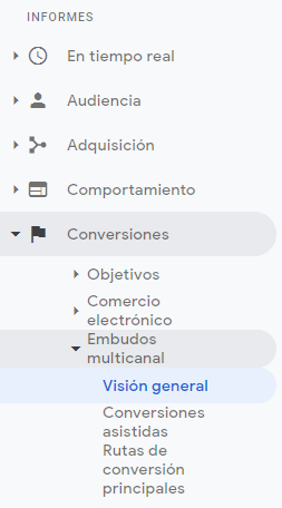 embudo google analytics